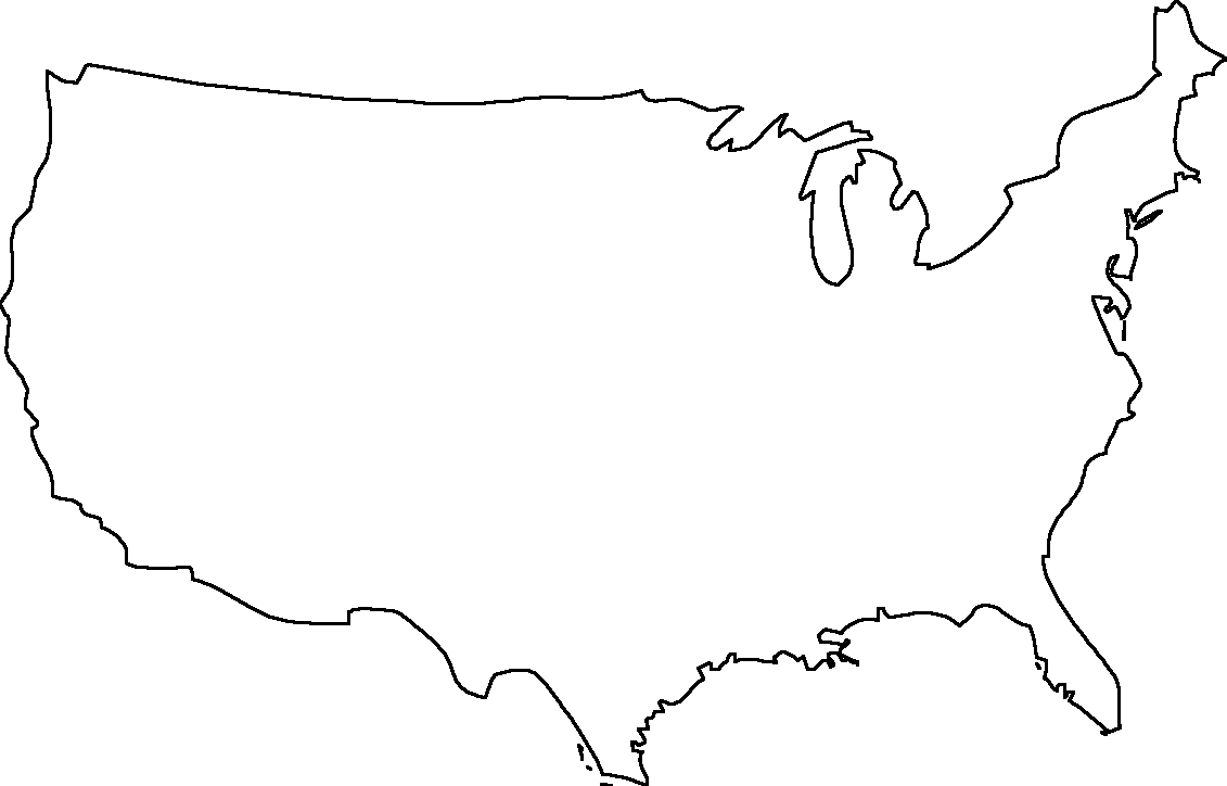 Us Blank Map Globalinterco - Us map with states outlined vector
